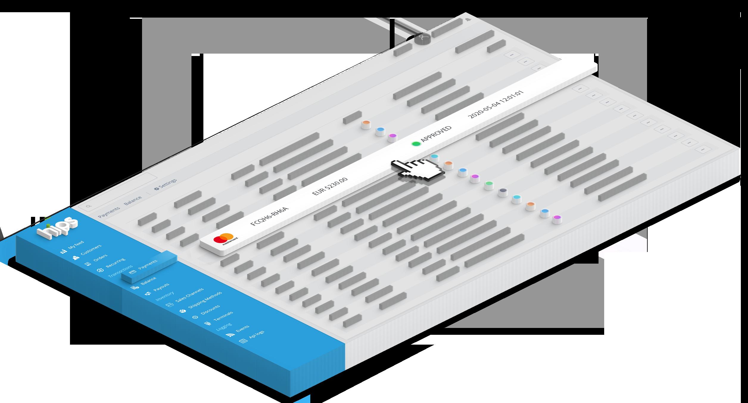 Dashboard isometric